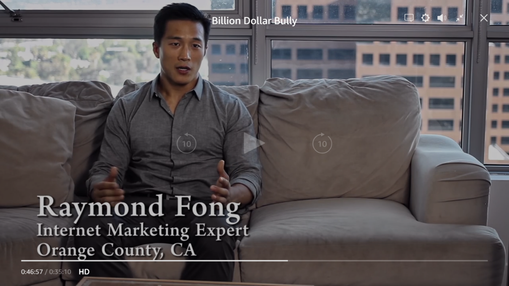 Raymond Fong on Billion Dollar Bully